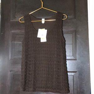 SALE❤️ JNY brown sleeveless sweater M